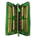 Hill Burry Hill Burry - VL77706 -2080 - echt leren - grote - dames - leder- rits portemonnee - stevig - chique - uitstraling - vintage leder- groen
