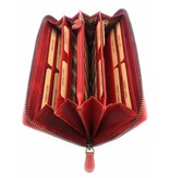 Hill Burry Hill Burry - VL77706 -2080 - echt leren - grote - dames - leder- rits portemonnee - stevig - chique - uitstraling - vintage leder- rood