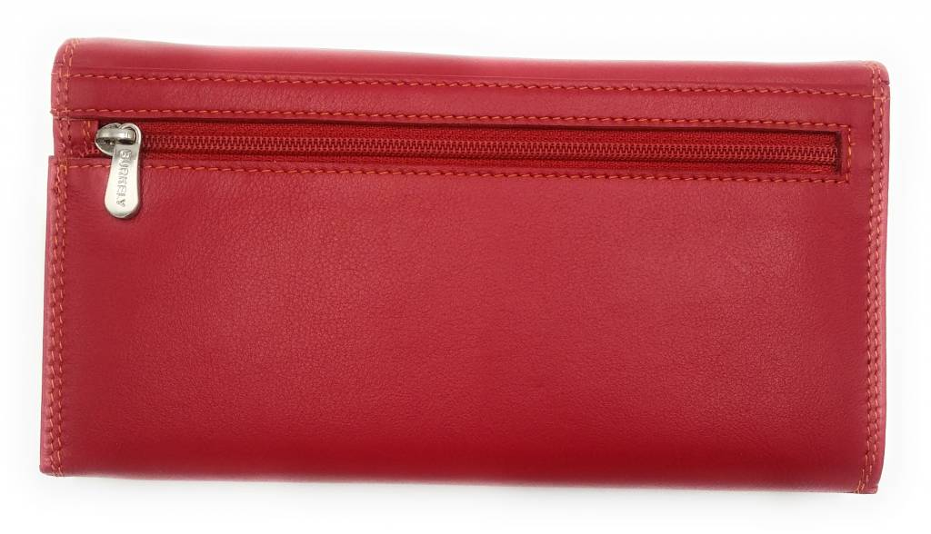 Burkely Burkely-102161.55 - Multicolor Dames Portemonnee Classic Rood