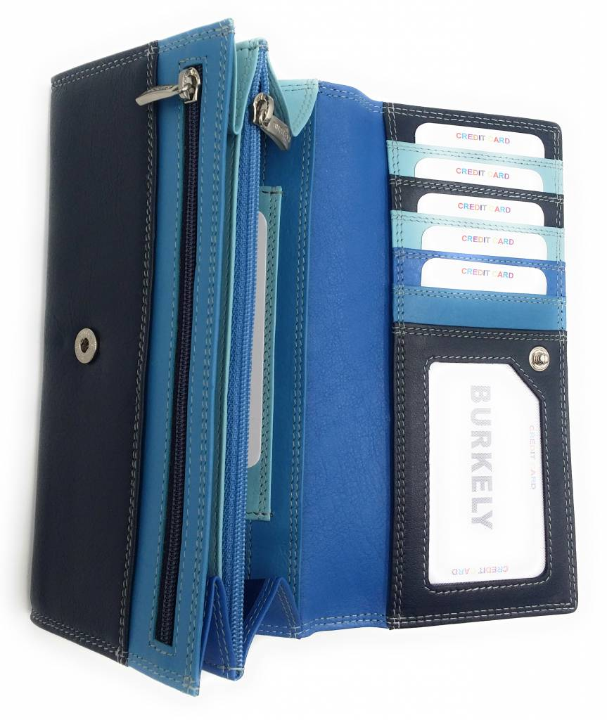 Burkely Burkely-102161.30 - Multicolor Wallet Classic blue