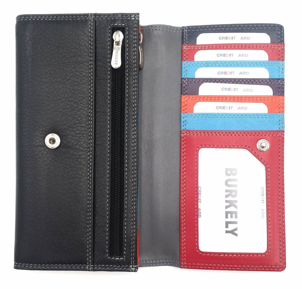Burkely Burkely-102.161,10 - Multicolor Wallet Classic Black