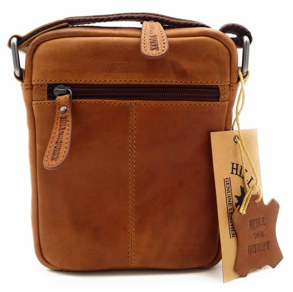 Hill Burry Hill Burry - VB10089 - 3169 - Echtleder - Schultertasche - crossbodytas- Firma - Vintage-Leder braun / cognac