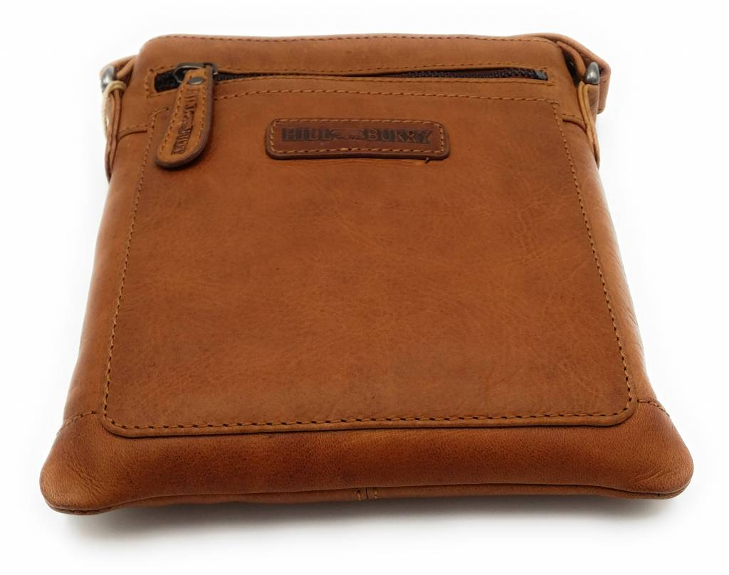 Hill Burry Hill Burry - VB10017 - 3098 - real leather - shoulder bag - crossbodytas- firm - vintage leather brown / cognac