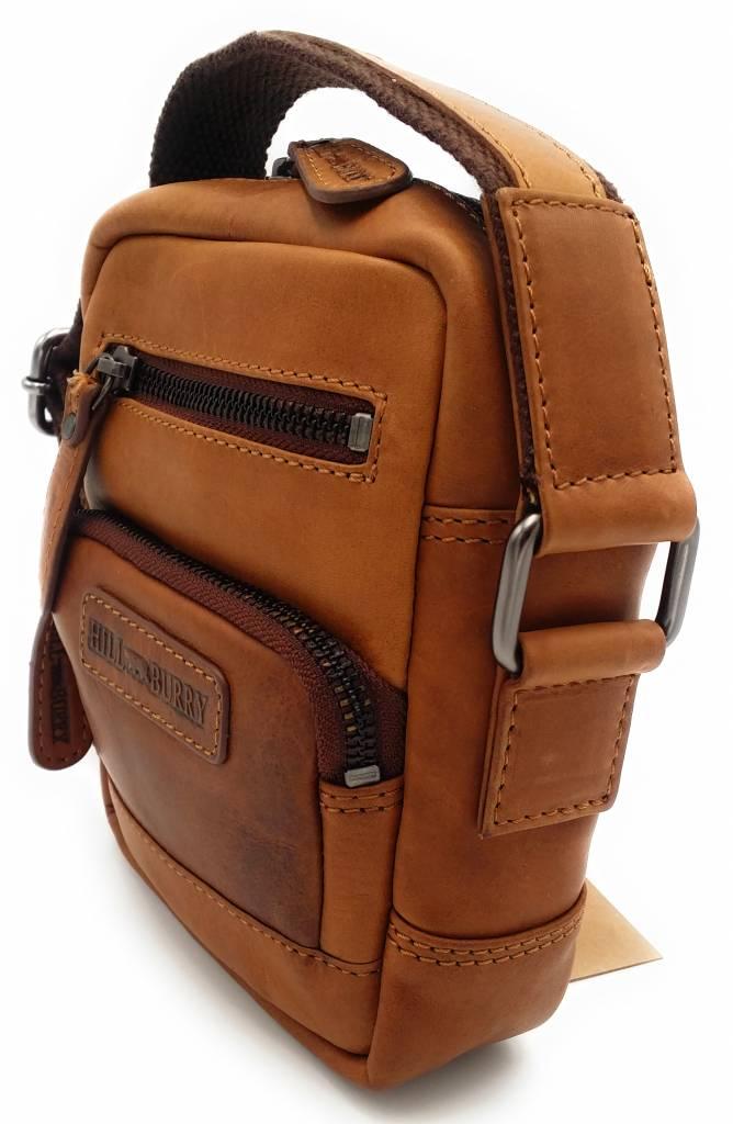 Hill Burry Hill Burry - VB100110 - 3245 - real leather - shoulder bag - crossbodytas- firm - vintage leather brown / cognac