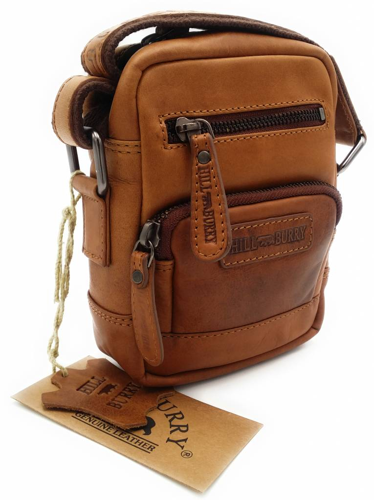 30f666d4b3740 Hill Burry - VB100110 - 3245 - real leather - shoulder bag - crossbodytas-  firm - vintage leather brown   cognac