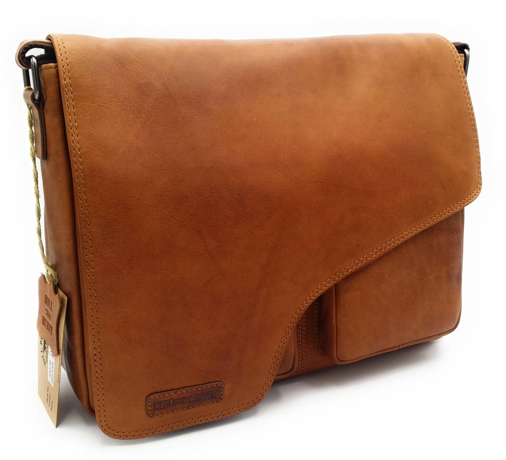 ba2e6f906ecae Hill Burry - VB10062 - 3062B - really learn - shoulder bag - werktas- firm  - vintage leather brown   cognac
