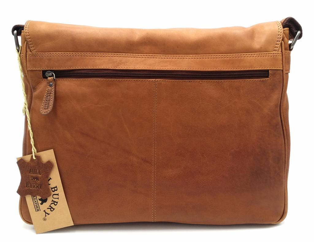 Hill Burry Hill Burry - VB100108 - 3173 - Echtleder - Schultertasche - werktas- Firma - Vintage-Leder braun / cognac