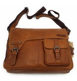 Hill Burry Hill Burry - VB100108 - 3173 - real leather - shoulder bag - werktas- firm - vintage leather brown / cognac