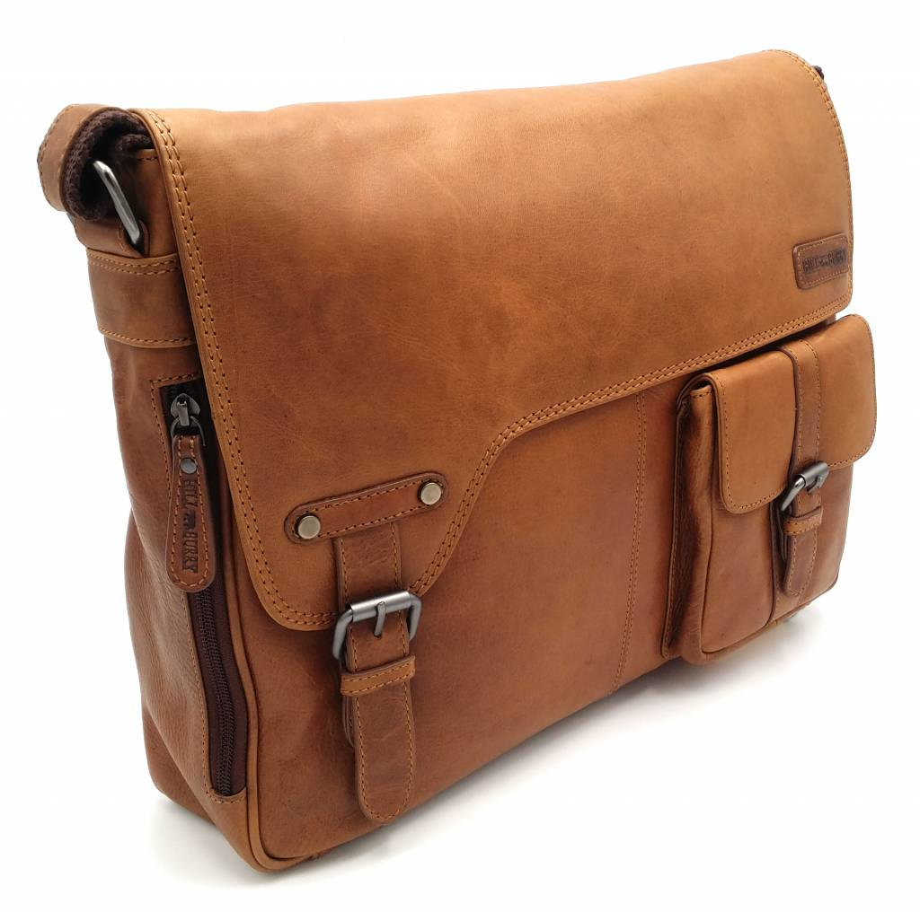 c569825494de7 Hill Burry - VB100108 - 3173 - real leather - shoulder bag - werktas- firm  - vintage leather brown   cognac