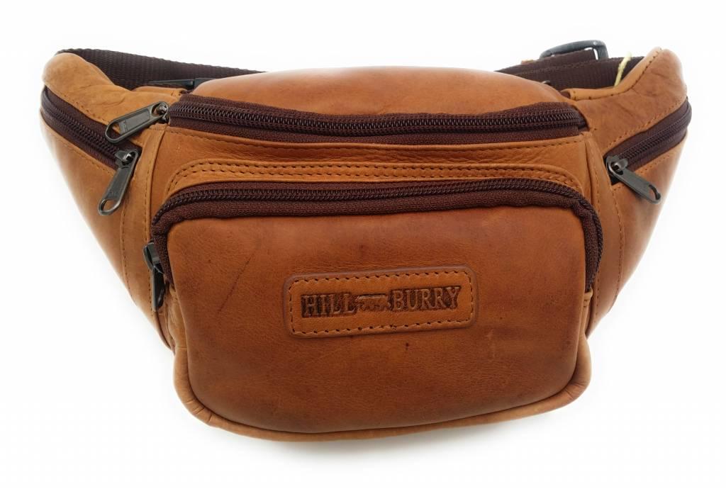Hill Burry Hill Burry – VB10032 -3044 – Leren heuptas - buideltas - stevig - chique - uitstraling - vintage leder- bruin /cognac