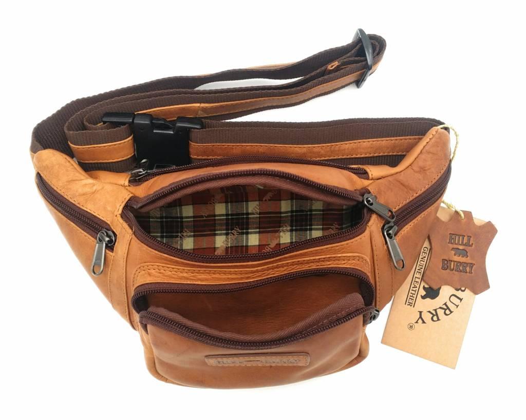 Hill Burry Hill Burry - VB10032 -3044 - Ledergürteltasche - Beutel - fest - chic - Aussehen - Vintage-Leder braun / cognac