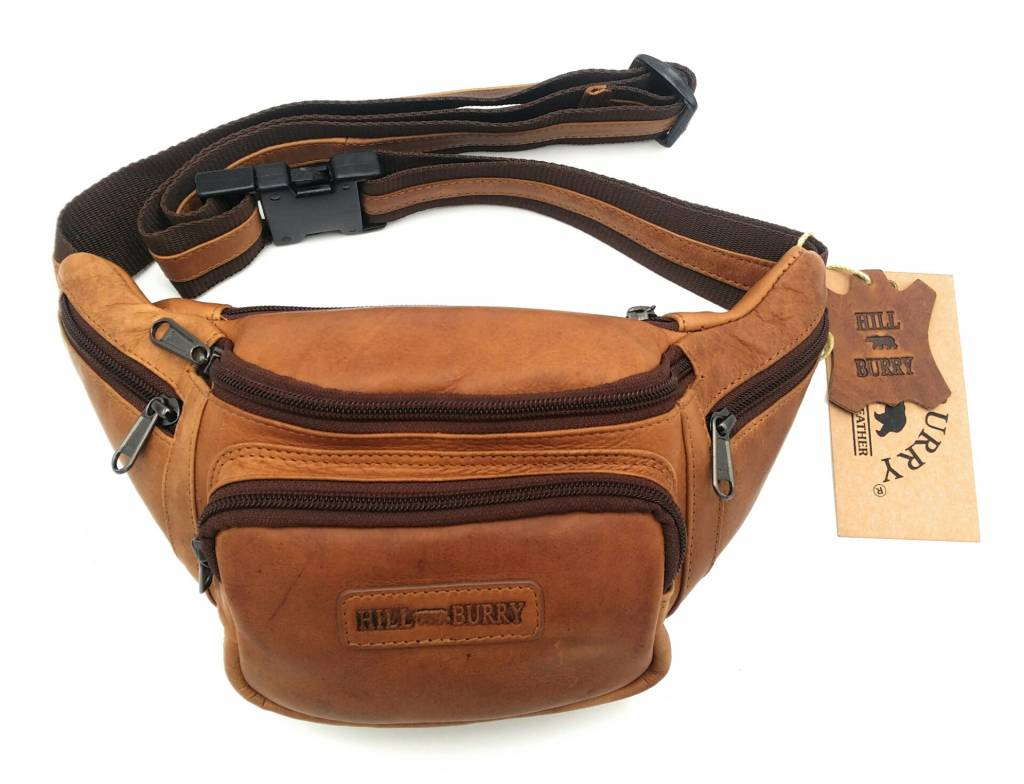 Hill Burry Hill Burry - VB10032 -3044 - Leather waist bag - pouch - firmly - chic - appearance - vintage leather brown / cognac