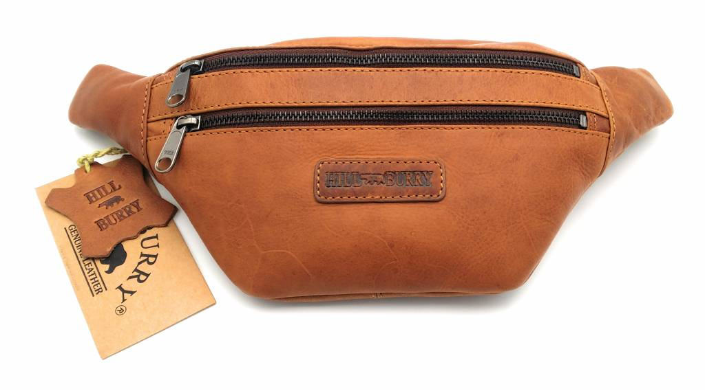 Hill Burry Hill Burry - VB10068 -3108 - Leather waist bag - pouch - firmly - chic - appearance - vintage leather brown / cognac