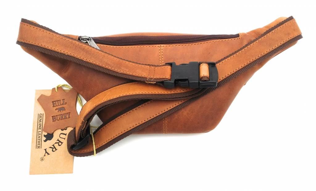Hill Burry Hill Burry – VB10068 -3108 – Leren heuptas - buideltas - stevig - chique - uitstraling - vintage leder- bruin /cognac