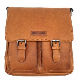 Hill Burry Hill Burry - VB10024 -3076- real leather - Shoulder -crossbodytas- firm - vintage leather brown / cognac