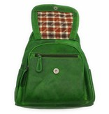 Hill Burry Hill Burry - VB10045 - 3109 - real leather - women - Backpack - firmly - chic - appearance - vintage leather green