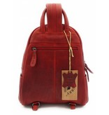 Hill Burry Hill Burry – VB10045 - 3109 - echt leren - dames - rugzak - stevig - chique - uitstraling - vintage leder- rood
