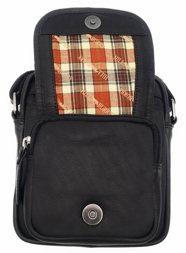 Hill Burry Hill Burry - VB10048 - 3112 - Genuine Leather - Shoulder Bag - Crossbody Bag Solid - Vintage Leather Black