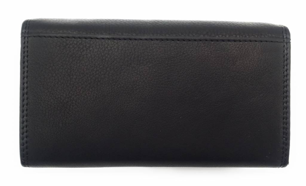Hill Burry Hill Burry - VL77709 -1971 - Genuine Leather - Large - Ladies - Wallet - Vintage Leather Black