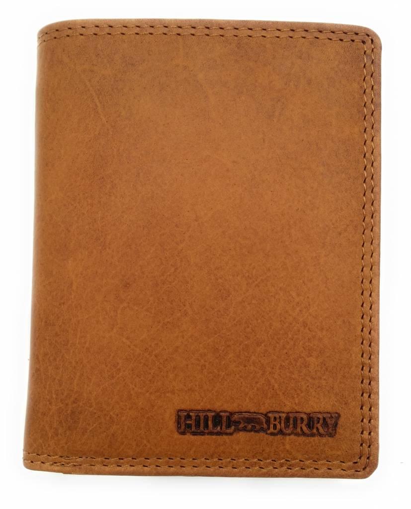 Hill Burry Hill Burry - V88899 - 5103NC - Echt Leder - Herrenbrieftasche - braun