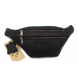 Hill Burry Hill Burry - VB10068 -3108 - Leather hip bag - pouch bag - sturdy - chic - look - vintage leather black