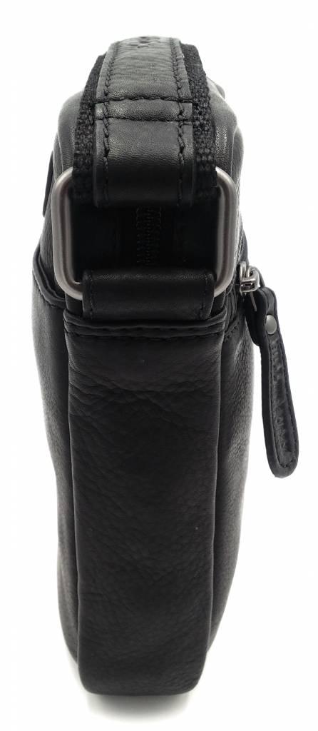 Hill Burry Hill Burry - VB10089 - 3169 - Genuine Leather - Shoulder Bag - Crossbody Bag Solid - Vintage Leather Black