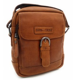Hill Burry Hill Burry - VB10011 - HT-06 - Genuine Leather Shoulder Bag - Crossbody Bag Solid - Vintage Leather Brown / Cognac
