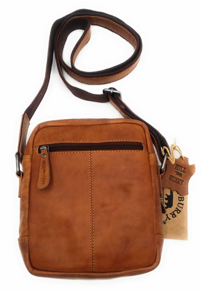 Hill Burry Hill Burry - VB10011 - HT-06 - Genuine Leather Shoulder Bag - Crossbody Bag Solid - Vintage Leather Brown / Cognac