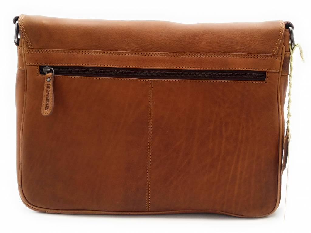 Hill Burry Hill Burry – VB10091 - 3174 - echt lederen - schoudertas –crossbodytas- stevig - chique - uitstraling - vintage leder- bruin /cognac
