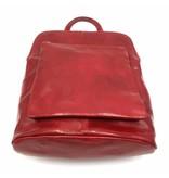 Bestes Leder - RZ30017 - rot - wirklich lernen - zwei in einem - Umhängetasche - Rucksack - solide - Qualität italienisches Leder rot