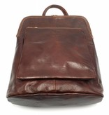 Bestseller - RZ30017 - light brown - real leather - 2 in 1 - shoulder bag - backpack - sturdy - high quality Italian leather light brown