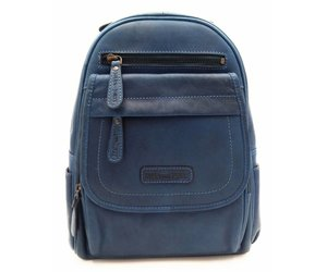 b12a54f33de4 Hill Burry Hill Burry - VB10045 - 3109 - real leather - women - Backpack -  firmly - chic - appearance - vintage leather blue - Bestleder.com