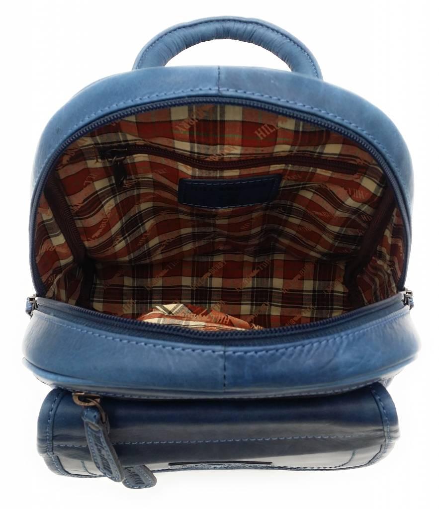 Hill Burry Hill Burry - VB10045 - 3109 - Echtleder - Frauen - Rucksack - fest - chic - Aussehen - Vintage-Leder-blau