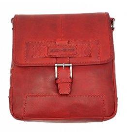 Hill Burry Hill Burry – VB10023 -2089 - echt leren - schoudertas –crossbodytas- stevig - vintage leder- rood