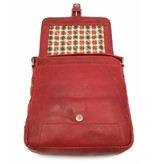 Hill Burry Hill Burry - VB10023 -2089 - real leather - Shoulder -crossbodytas- firm - vintage leather red