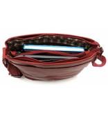Hill Burry Hill Burry - VB10023 -2089 - Echtleder - Schulter -crossbodytas- Firma - Vintage-Leder rot