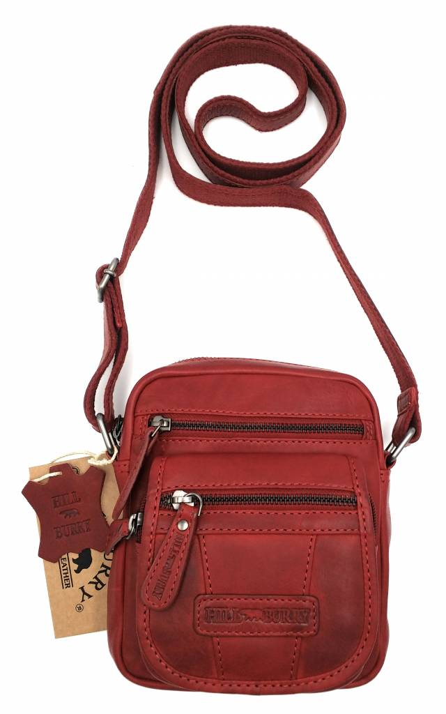 Hill Burry Hill Burry - VB10048 - 3112 - real leather - shoulder bag - crossbodytas- firm - vintage leather - red