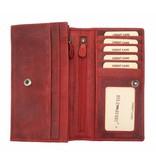 Hill Burry Hill Burry - VL77701 - L104 - Echt Leder - Damen - Brieftasche - Vintage-Leder- rot