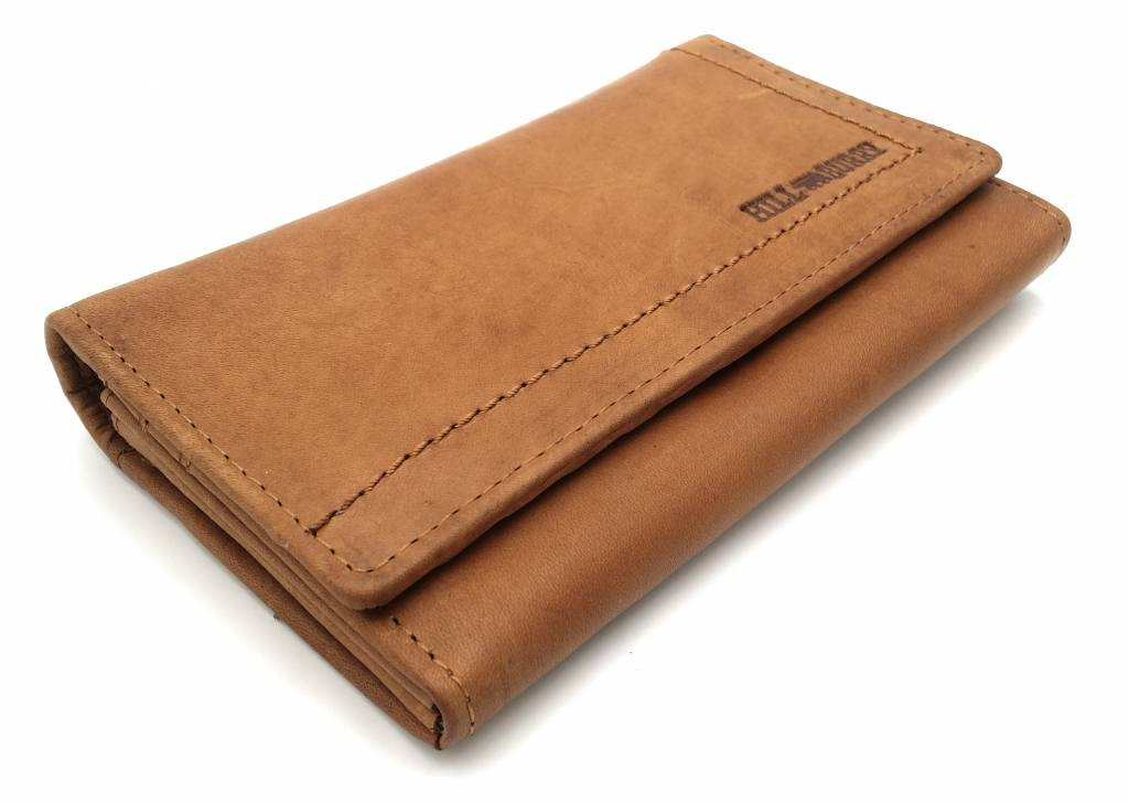 Hill Burry Hill Burry - VL77701 - L104 - genuine leather - Women - wallet - vintage leather - brown/ tan