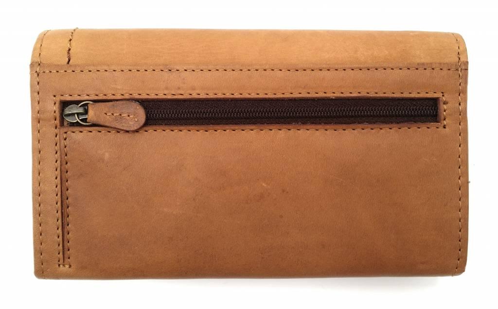 Hill Burry Hill Burry - VL77701 - L104 - Echt Leder - Damen - Brieftasche - Vintage-Leder- braun