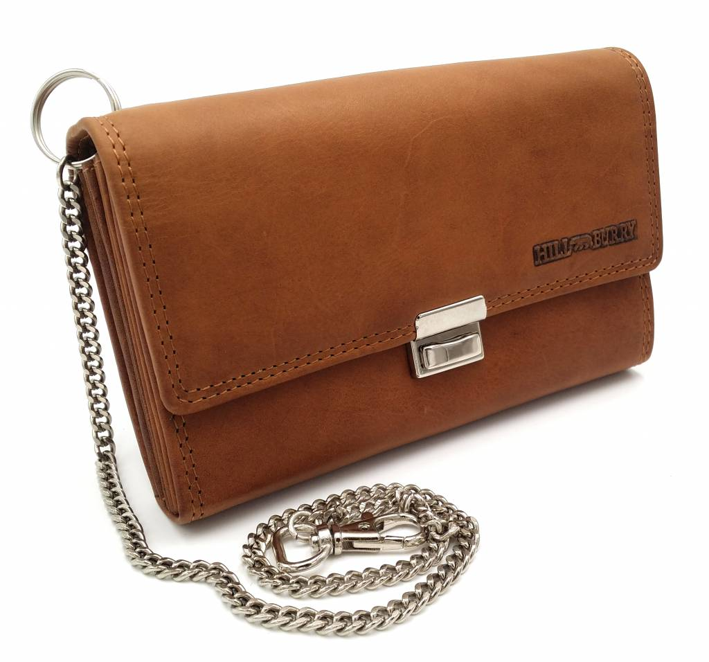 Hill Burry  Hill Burry - VL777035 - 5077 - catering wallet - vintage leather- brown / cognac