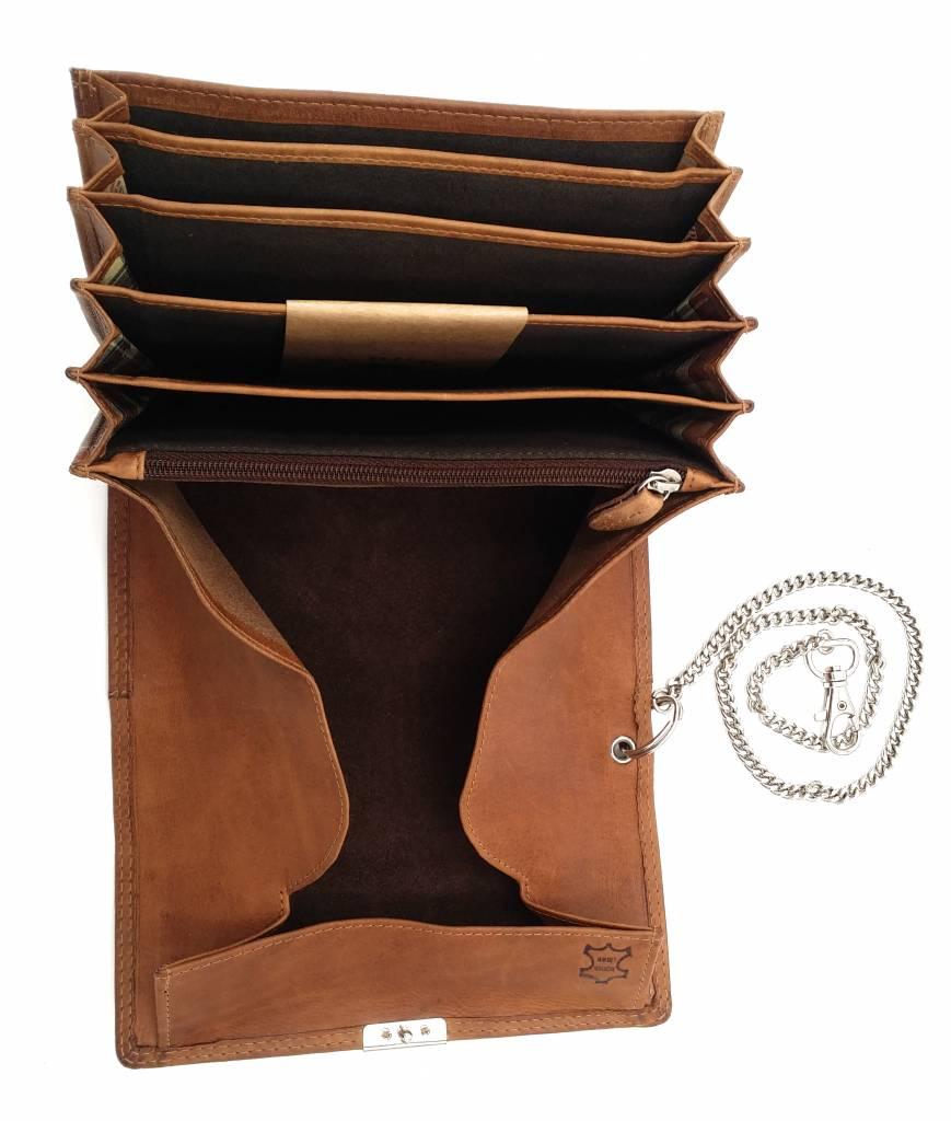 Hill Burry Hill Burry - VL777035 - 5077 - horeca portemonnee - vintage leder- bruin/ cognac