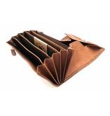 Hill Burry Hill Burry - VL777035 - 5077 - Gastronomie Brieftasche - Vintage Leder-braun / Cognac