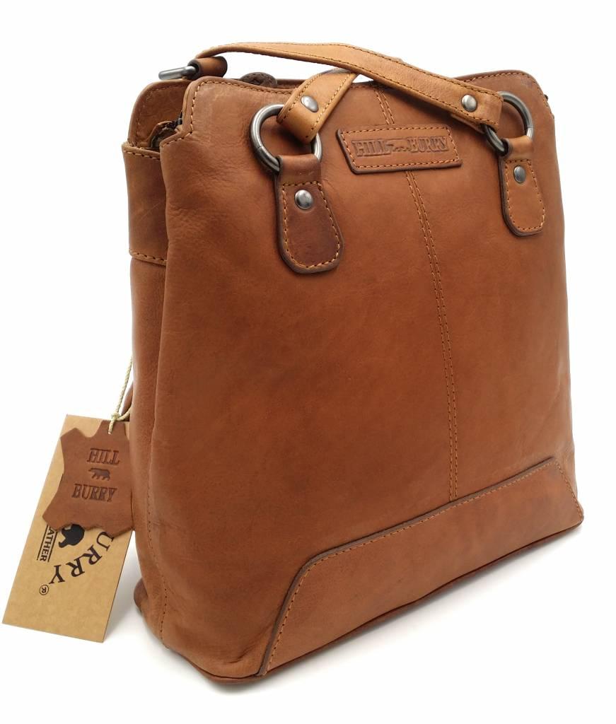Ausverkauf frische Stile schnell verkaufend Hill Burry - VB100208 - 4065 - Echtes Leder - Damen Rucksack und  Umhängetasche - Robust - Chic - Look - Vintage Leder - Braun / Cognac