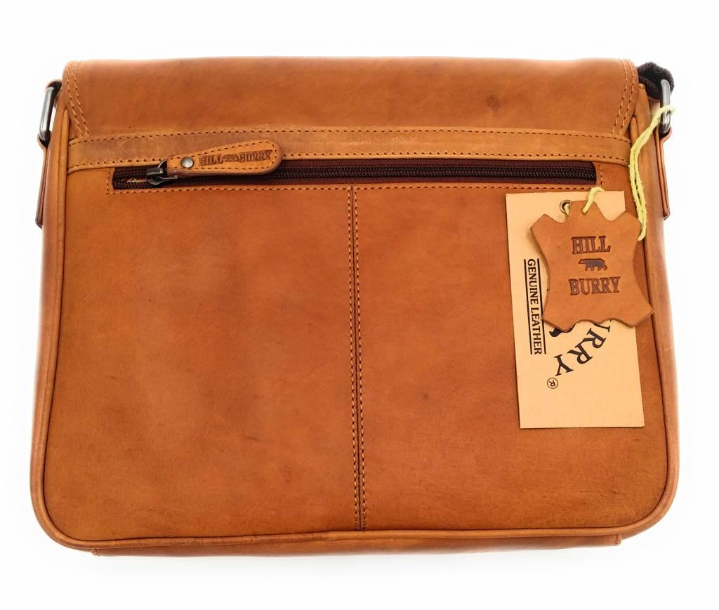 Hill Burry Hill Burry – VB10073 -3141 - echt leren - schoudertas –crossbodytas- stevig - vintage leder- bruin /cognac