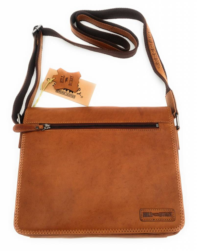 Hill Burry Hill Burry - VB10073 -3141 - real leather - Shoulder -crossbodytas- firm - vintage leather brown / cognac