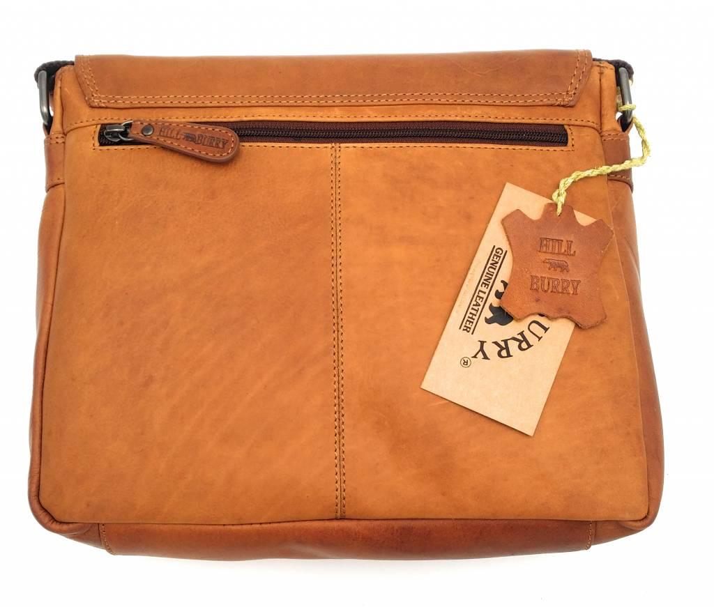 Hill Burry Hill Burry – VB10019 -3075 - echt leren - schoudertas –crossbodytas- stevig - vintage leder- bruin /cognac