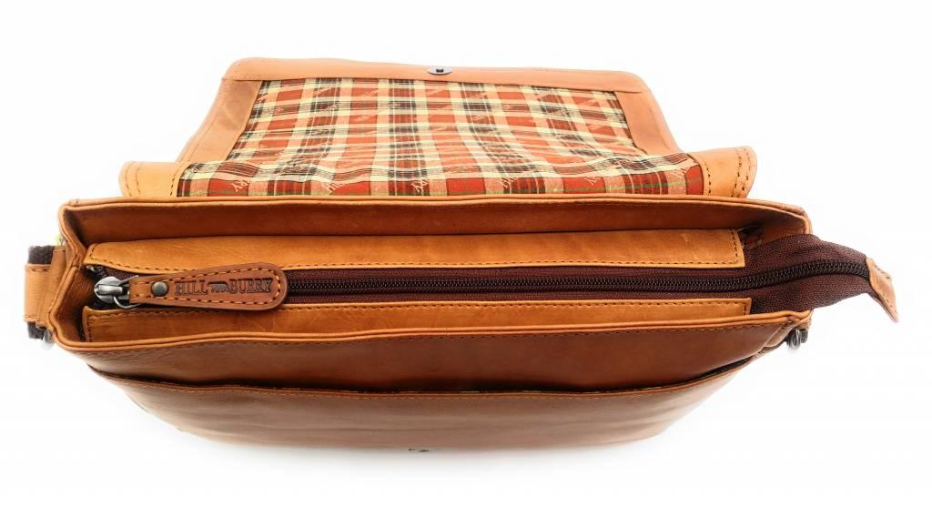 Hill Burry Hill Burry - VB10019 -3075 - Echtleder - Schulter -crossbodytas- Firma - Vintage-Leder braun / cognac