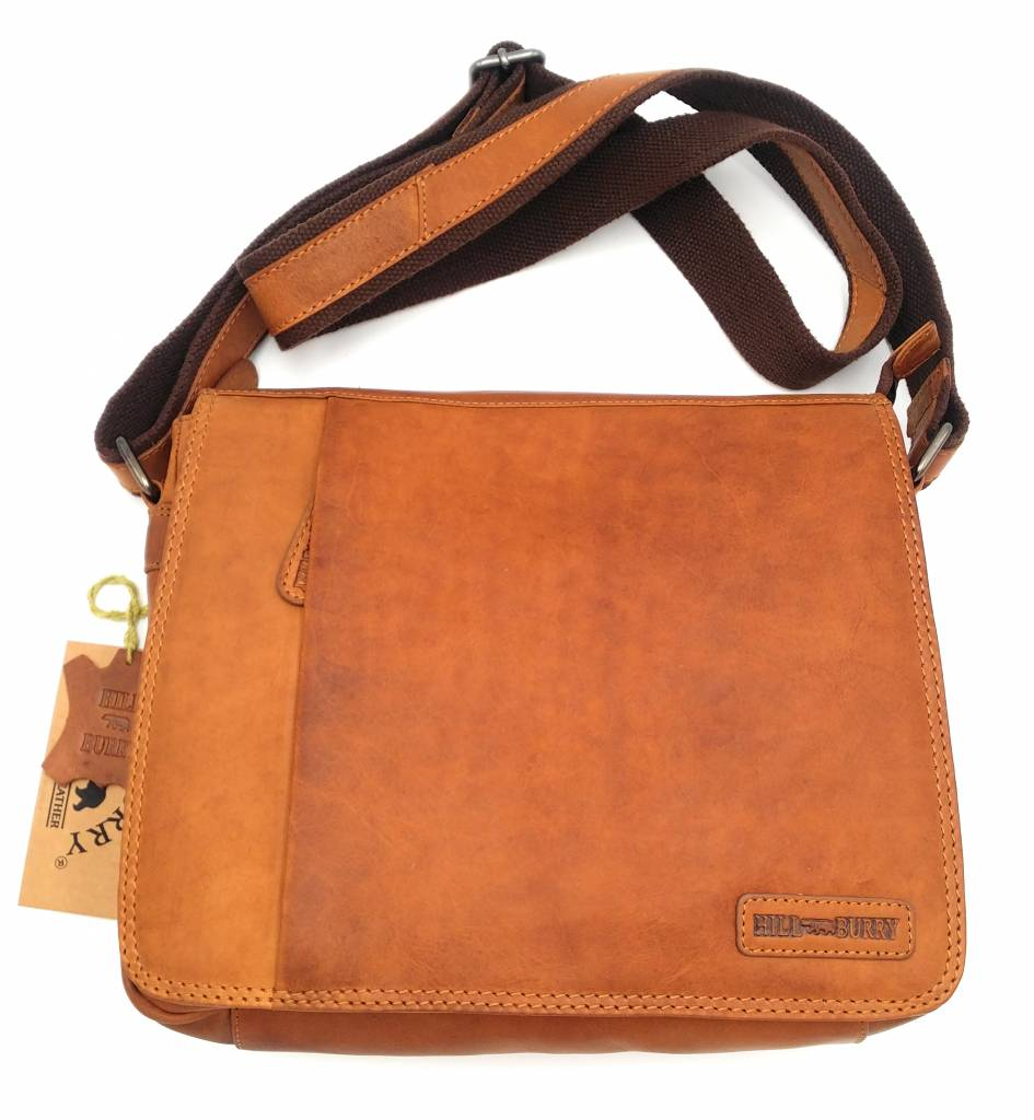 Hill Burry Hill Burry - VB10019 -3075 - real leather - Shoulder -crossbodytas- firm - vintage leather brown / cognac