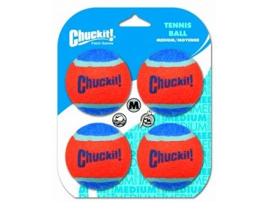 Chuckit Tennis Ball medium 6,5cm 4pc.